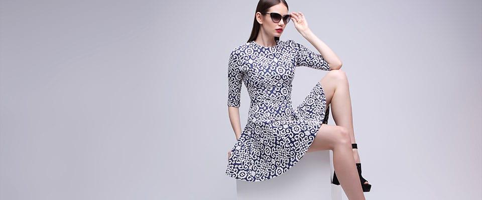Платье с рукавом из курса по пошиву