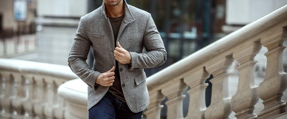 Мужской пиджак в стиле Casual из курса по пошиву