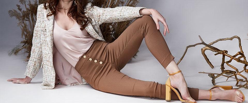 Женские брюки из курса живого кроя