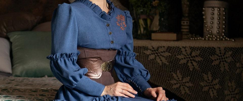 Работа студента: платье в стиле Бохо с корсетным поясом